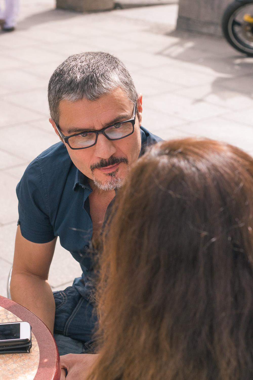 Ángel Pardo en un reportaje para MICINEXIN