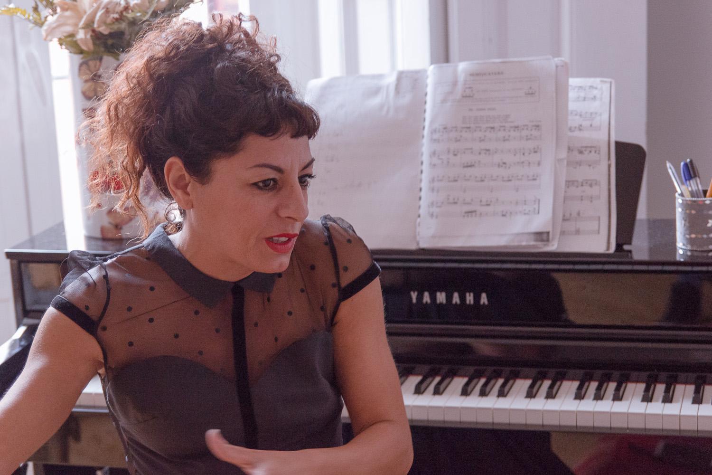Cristina Medina en un reportaje para MICINEXIN
