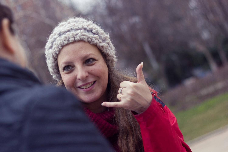 Nuria Gallardo en un reportaje para MICINEXIN