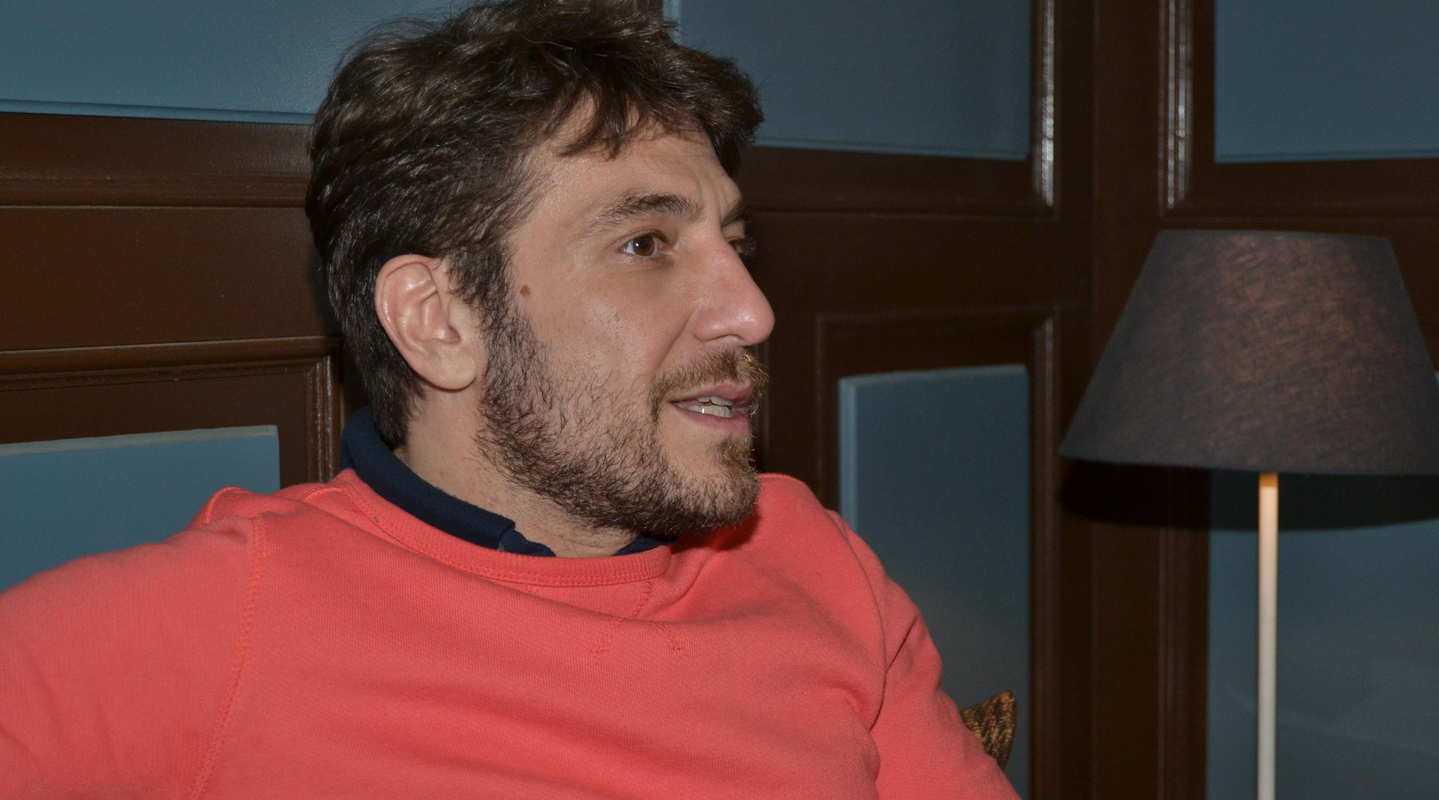 Raúl Tejón en un reportaje para MICINEXIN
