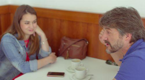 El representante y la actriz en un reportaje para MICINEXIN